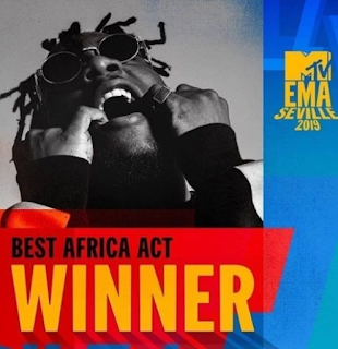 Burna Boy wins 'Best African Act' at MTV EMA 2019