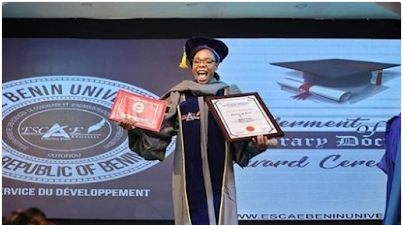 Kaffy awarded Honourary Doctorate degree