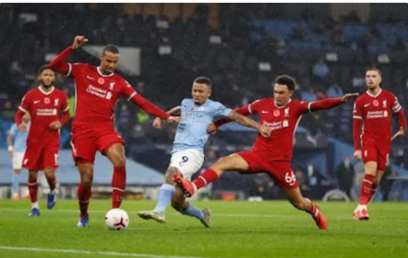 Liverpool in third place after draw against Man. City
