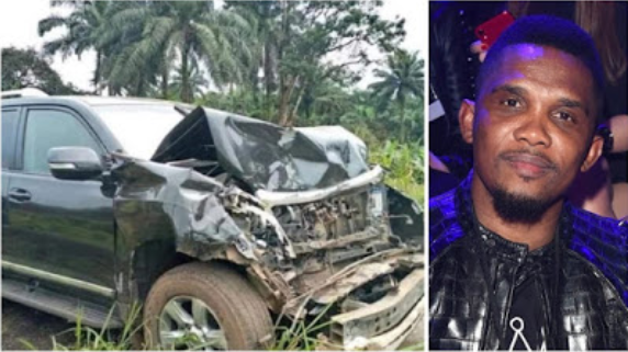 Samuel Eto'o in stable condition after car crash